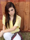 Insecure Sad Teen Girl Royalty Free Stock Photo
