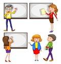 Insegnanti maschii e femminili Immagini Stock Libere da Diritti