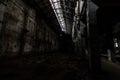 Inside abandoned power plant. Royalty Free Stock Photo