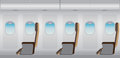 Inside Airplane, Business class seat