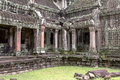 Inside angkor the temple at thom in archaeology park in seim reap cambodia Stock Photography