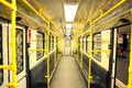 Inside the Berlin metro Royalty Free Stock Photo