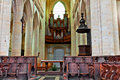 Inside the big cathedral in Coustances Royalty Free Stock Photography