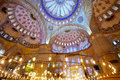 Inside blue mosque interior of the sultanahmet camii in istanbul turkey Stock Photo