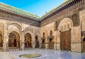 Inside the Bou Inania medresa of old medina Fez - Morocco Royalty Free Stock Photo