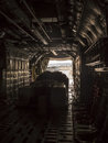Inside the cargo plane Royalty Free Stock Photo