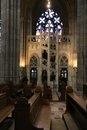 Inside cathedral prague the from the city Royalty Free Stock Image