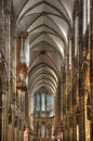 Inside cologne cathedral the amazing gothic in germany Royalty Free Stock Photos