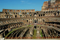 Inside The Coloseum Stock Photo