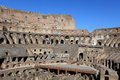 Inside in colosseum rome italy the is a major tourist attraction Royalty Free Stock Images