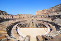 Inside of colosseum in rome a panoramic view from the second floor side the Stock Photo