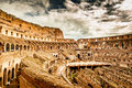 Inside of Colosseum in Rome Royalty Free Stock Photo