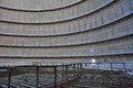 Inside a cooling tower Royalty Free Stock Photo