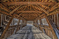 Inside a Covered Bridge Royalty Free Stock Photo