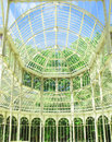Inside the crystal palace of El Retiro Royalty Free Stock Images