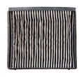 Inside of dirty air filter close up car conditioner isolated on white Royalty Free Stock Photography