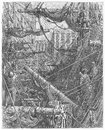 Inside the docks picture from gustave dore s london a pilgrimage illustrated book published in london uk Stock Photography