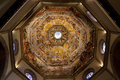 Inside the dome of Cattedrale di Santa Maria del Fiore Royalty Free Stock Photo