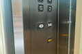 Inside of elevator closeup at control panel Royalty Free Stock Photos