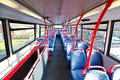 Inside an empty bus Royalty Free Stock Photo