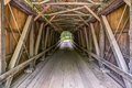 Inside Foraker Covered Bridge Royalty Free Stock Photo