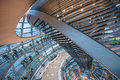 Inside of the German Reichstag, parliament Royalty Free Stock Photo
