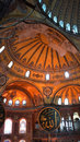 Inside the hagia sophia a glimpse in istanbul turkey Royalty Free Stock Image