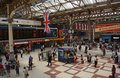 Inside historic victoria railway station london uk united kingdom july Stock Photography