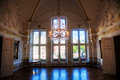 Inside of the historical aachen town hall view a baroque room in germany Royalty Free Stock Photography