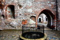 Inside Hunedoara Castle, called Corvin Castle in Transilvania Royalty Free Stock Photo