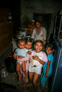 Inside indonesian home happy children in the kitchen their Royalty Free Stock Photography