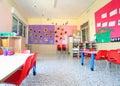 Inside of the kindergarten classroom Royalty Free Stock Photo