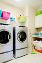 Inside laundry room Royalty Free Stock Images
