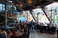 Inside looping restaurant FoodLoop Royalty Free Stock Photo