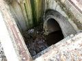 Inside of manhole Royalty Free Stock Photo