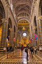 Inside marvelous siena cathedral italy full of masterpieces from most famous italian renaissance artists Royalty Free Stock Photo