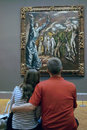 Inside the met new york city usa student couple visit metropolitan museum of art in Stock Image