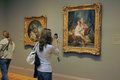 Inside the met new york city usa student visits metropolitan museum of art in Stock Photo