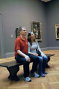 Inside the met new york city usa students visit metropolitan museum of art in Stock Photography