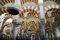 Inside the Mezquita of Cordoba, Spain Stock Image