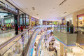 Inside modern luxuty mall in dubai uae november on november at over million sq ft it is the world s largest shopping Stock Photos