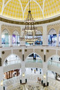 Inside modern luxuty mall in dubai uae november on november at over million sq ft it is the world s largest shopping Royalty Free Stock Photo