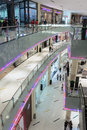 Inside modern luxuty mall in dubai uae november at over million sq ft it is the world s largest shopping based on total area Royalty Free Stock Image
