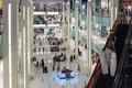 Inside modern luxuty mall in dubai uae november at over million sq ft it is the world s largest shopping based on total area Royalty Free Stock Photo