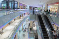 Inside modern luxuty mall in dubai uae november at over million sq ft it is the world s largest shopping based on total area Stock Photo