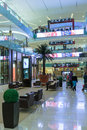 Inside modern luxuty mall in dubai uae november at over million sq ft it is the world s largest shopping based on total area Stock Photos