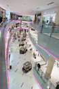 Inside modern luxuty mall in dubai uae november at over million sq ft it is the world s largest shopping based on total area Stock Image