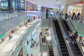 Inside modern luxuty mall in dubai uae november at over million sq ft it is the world s largest shopping based on total area Stock Photography