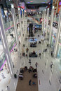 Inside modern luxuty mall in dubai uae november at over million sq ft it is the world s largest shopping based on total area Royalty Free Stock Images