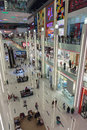 Inside modern luxuty mall in dubai uae november at over million sq ft it is the world s largest shopping based on total area Royalty Free Stock Photography